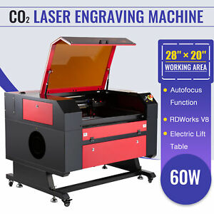 Upgraded Co2 Laser Engraver Cutter 60w 20 28 Autofocus Electric Lift Table