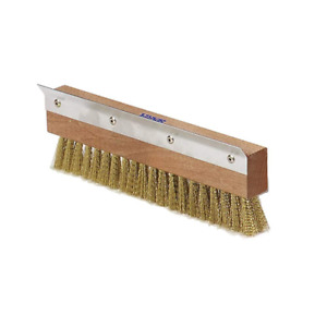 Carlisle 4029300 Pizza Oven Brush With Scraper Head Only 10 Brass