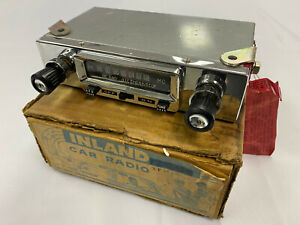 Vintage Inland All Transistor Car Radio Complete W Box Nos