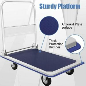 Folding Platform Cart Moving Dolly Hand Truck 330 Lbs Easy To Store And Transpor