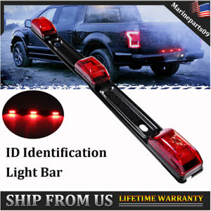 1 Pc Red Led Clearence Id Tail Light Bar Truck Rear Marker Strip Running Lamp