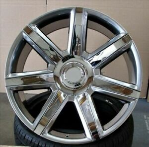 26 Platinum Style 7 Spoke Style Wheels Fits Cadillac Escalade Rims Set 4