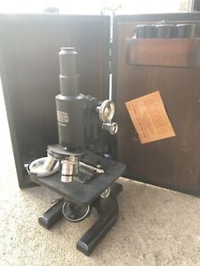 Antique Ao Spencer Microscope With Case