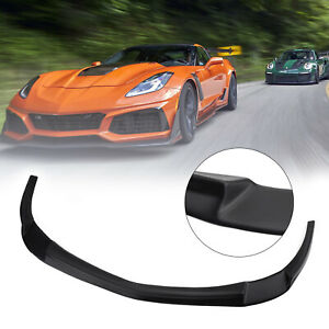 Front Bumper Lip Splitter Spoiler Kit For 2005 2013 Chevy Corvette C6 Base Usa