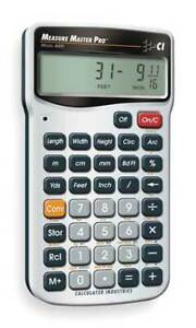 Calculated Industries 4020 Calculator construction 5 5x0 5x2 9