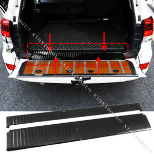 2x Rear Bumper Cargo Protector Sill Plate Trim Fit For Toyota Land Cruiser Lc200