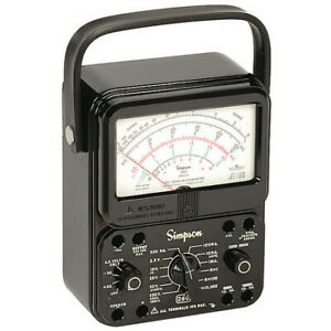 Simpson Electric 260 8p Analog Multimeter 1000v 10a 20m Ohms