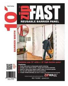 Zipwall Zf10 Barrier Panel 10ftlx12fth white
