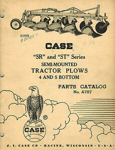 Case Vintage Sr St Series Semi mounted Plow Parts Manual
