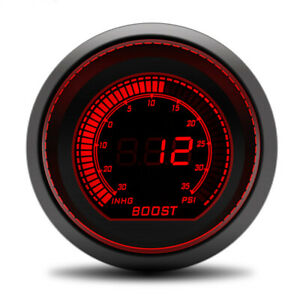 Glow Shift 52mm Tinted 2 Color Psi Turbo Boost Pressure Gauge Meter 30 0 35psi
