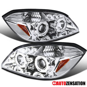 For 2005 2010 Chevy Cobalt 2007 2009 G5 Led Halo Projector Headlights Lamps