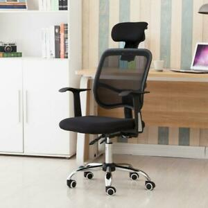 Adjustable Mesh High Back Office Chair Stools Computer Desk Seat With Headrest