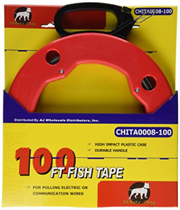 100ft Steel Cable Fish Tape Electric Wire Cable Line Puller In High Plastic Case