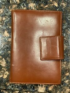Prada Agenda Cover 6 Rings And Cards Brown Leather Italy