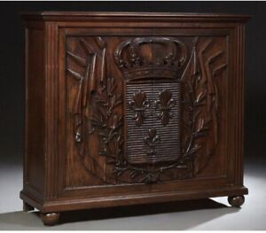 Magnificently Carved French Gothic Server Sideboard Credenza Oak 19th Century