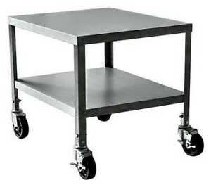 Zoro Select 23ar46 Stainless Steel Utility Cart 500 Lb Capacity 24 l X 20 w X