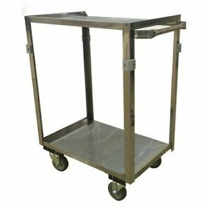Zoro Select Zf124u403 Stainless Steel Utility Cart 600 Lb Capacity 28 l X