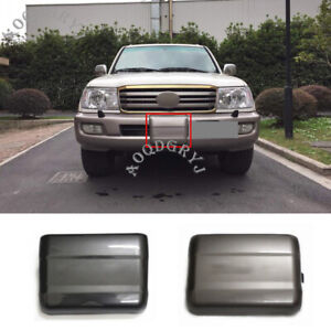 1x For Toyota Land Cruiser Lc100 1998 2007 Car Abs Front Bumper Winch Cover Trim