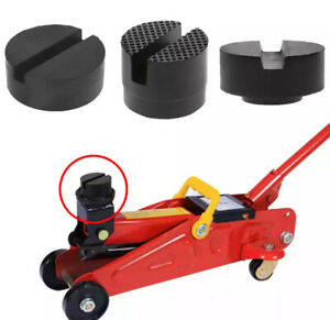 Universal Car Truck Cross Slotted Frame Rail Floor Jack Disk Rubber Pad Adapter