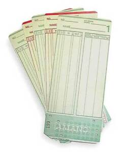 Amano Ama099000 Time Card 7 1 4x3 1 4in pk1000