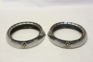 Original 1954 Chevrolet Belair 150 210 Stainless Headlight Bezel Pair Oem Gm