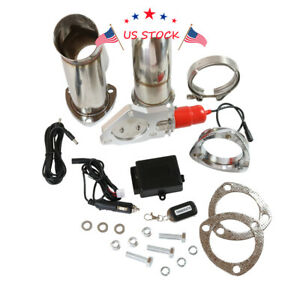 63mm 2 5 Electric Remote Exhaust Catback Downpipe Cutout E Cut Out Valve System