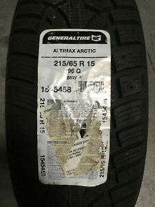 1 New 215 65 15 General Altimax Arctic Snow Tire