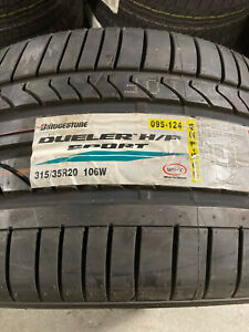 2 New 315 35 20 Bridgestone Dueler H P Sport Tires