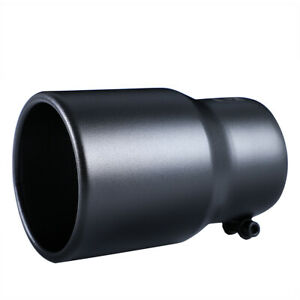 Car Exhaust Tip 3 5 Inlet Black Coated Stainless Steel Muffler Pipe Bolt On