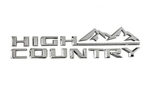 1x High Country Nameplate Emblem 3d Badge Fender Rear Tailgate Silverado 19 20