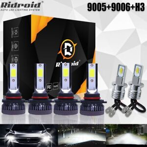 For Toyota Corolla 2001 2004 Led Headlight Hi lo Fog Light 6x Bulbs Combo Kit