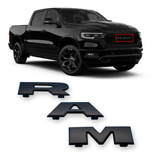 Black Ram Front Grille Emblem Nameplate Badge For Dodge Ram 1500 Mopar 2019 2020