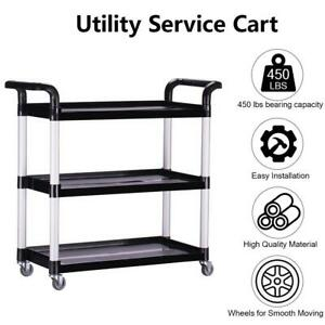 3 tier Rolling Utility Cart Shelves Storage Trolley Service Cart With Wheels Usa