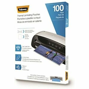 Fellowes Thermal Laminating Pouches sheets Letter Size 9 X 11 5 inches 3 Mil