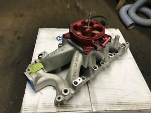 Ford Small Block Super Victor 8 2l Fuel Injected Manifold With 1000 Cfm Throttle
