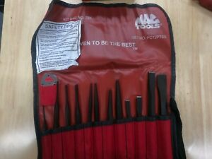 New Mac Tools 12 Pc Punch And Chisel Set With Gauge