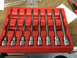 New Mac Tools8 Pc 3 8 Drive Metric Long Hex Driver Set