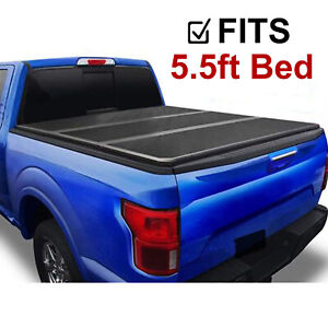 For 2009 2019 Dodge Ram 1500 Pickup 5 5ft Truck Bed Hard Tri Fold Tonneau Cover