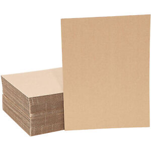 50 Pack Corrugated Cardboard Sheets Inserts For Packing Mailing Crafts 9x12