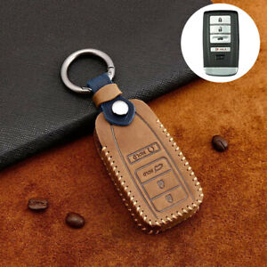 For Acura Cdx Tlx Rlx Rdx Mdx Ilx Part Leather Car Remote Key Fob Case Cover Bag