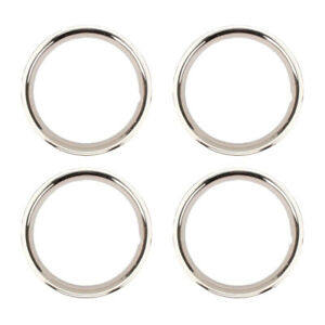 Stainless Steel Beauty Ring 15 Inch Rally Wheel 2 Inch 4 Pk
