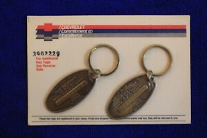 Nos Brass Chevrolet Key Chain Set Accessory Camaro Impala Truck Tahoe Gm Key Fob