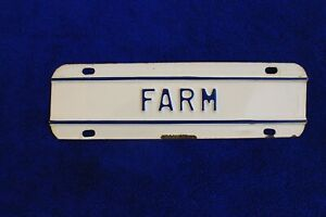 Vintage Farm Truck License Plate Topper Accessory Fits Ford Gm Ram Dodge Chevy