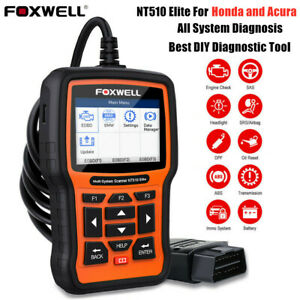 Foxwell Nt510 Elite For Honda All System Abs Srs Tpms Obd2 Diagnostic Scanner