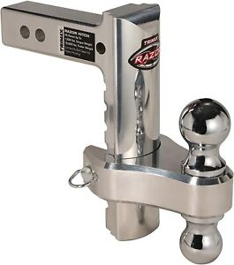 Trimax Trz8al rp Aluminum 8 Adjustable Receiver Hitch W 2 2 5 16 Balls