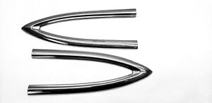 Quarter V Molding Stainless Side Trim Pair 1953 1954 Chevy Belair