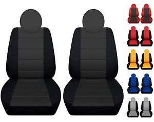 Front Set Car Seat Covers Fits 2010 2019 Fiat 500 Black And Red