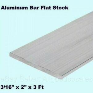 Aluminum Bar Flat Stock 3 16 X 2 X 3 Ft Unpolished 6061 Alloy 36 Length