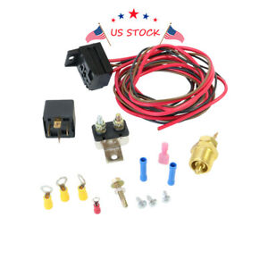 3 8 454 427 Engine Fan Radiator Thermostat Temperature Switch Relay Kit Electric