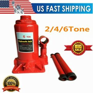 2 4 6 Ton Hydraulic Bottle Jack Heavy Duty Stand Auto Shop Jack Car Repair Tool